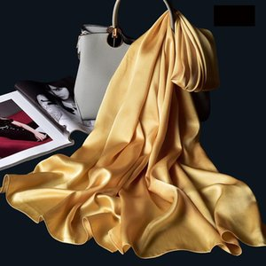 Spring Silk Scarf Designer Letters Large Long Satin Women Summer Travel Shawls Beach Wraps Foulard Femme Ladies Fashion
