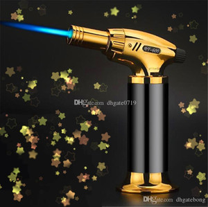 High quality 1300Celsi Metal Dab Jet flame Torch Windproof Micro Butane Torch cigar Lighter Professional Kitchen Torch Lighter with box