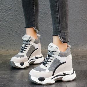 Rimocy Fashion Womens Chunky Invierno Zapatillas de Invierno Espesar Plataforma de Peluche Botas de nieve Mujer Altura Aumento de Zapatos Casuales Mujer 2019 T6VK #