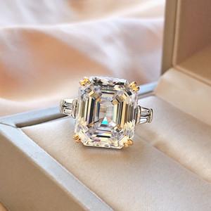 Vecalon Engagement Promise Bague 925 Sterling Argent Asscher Coupée 6CT 5A CZ Bandes de mariage de luxe pour femmes Bijoux de mariée 6 T2