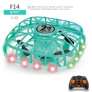 Mini RC Drone Infraed Hand Sensing Aircraft Helicopter UFO Electronic Model Quadcopter Flying Ball Small Drone Toys For Children