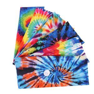 Color Bloqueo Mascarilla Cara Bandas para el cabello Tie Cycling Yoga Sweat Sweat Diadema para hombres Mujeres Head Bandas de sudor Cara Mascarilla Seguridad 2pcs 4 x2