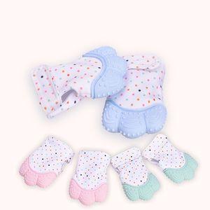 New Silicone Tehter Baby Pacifier Glove Teving Tewable Newborn Carsing Teether Bears Младенческая BPA Бесплатные пастельные 5 цветов 344 y2