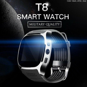 New T8 Bluetooth Smart Watch With Camera Phone Mate SIM Card Pedometer Life Waterproof For Android iOS SmartWatch android smartwatch