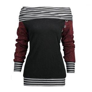 2020 Fashion Pile Collar Womens Tops Loose Panelled Designer Striped Printed Womens Clothing Women Designers Sweatshirts