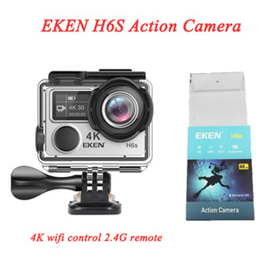 EKEN H6S Ultra HD Action Camera 30M Waterproof WiFi Control H6S Sport Camera 170 Degree 4K 2.4G Remote with EIS Technology