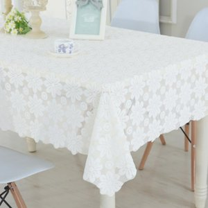 RAYUAN Embroidered Foral Cutwork Tablecloths Rectangular Table Cover Table Cloth Wedding Party Home Decor Multi Size