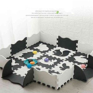 Baby Puzzle Play Mat For Kids EVA Foam Jigsaw Floor Cushion Thick Crawling Carpet Children Educational Toys Activity Game Pad 210915