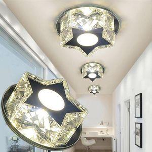 Laimaik Kristal LED Tavan Işık 3 W Yıldız LED Koridor Işık 90-260 V Kristal Modern Tavan Işıkları Oturma Odası Için
