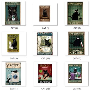 20*30cm Tin Signs Black Cat Cooking Fucupcakes Vintage Painting Old Wall Metal Plaque Pub Bar Club Shop Home Iron Posters Stickers Decor Art Pictures