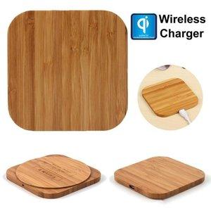 Bamboo Wireless Charger Wood Wooden Pad Qi Fast Charging Dock USB Cable Tablet iPhone 11 Pro Max For Samsung Note10 Plus