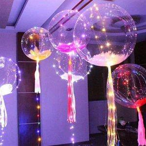 New Light Up Toys LED String Lights Flasher Lighting Balloon Wave Ball 18inch Helium Balloons Christmas Halloween Decoratio