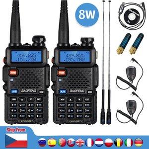 Walkie Talkie 2pcs Real 8W Baofeng UV-5R UV 5R High Power Amateur Ham CB Radio Station UV5R Dual Band Transceiver 10KM Intercom