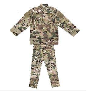 Children Uniform Camouflage Suit Boy Girl Clothes Jacket+Pants Army Paintball Combat Camo CS Clothes