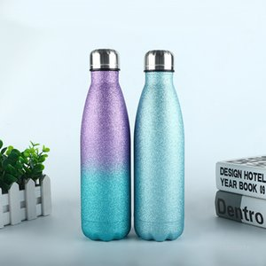304 stainless steel double-deck vacuum mug 500ml Insulated coke bottle large capacity outdoor thermos sports Tumbler Cup T9I001188