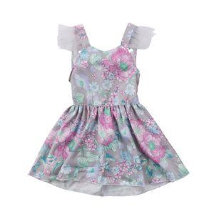 CITGEECUTE BABYLAND BABY Girls sin mangas Backless Bowknot Lace Princess Vestidos Verano Sundress Ropa