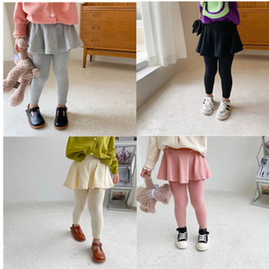 AMBB Korean Quality New INS Spring kids girl skirt dress pants girl leggings kids cotton leggings children autumn girls cute tights