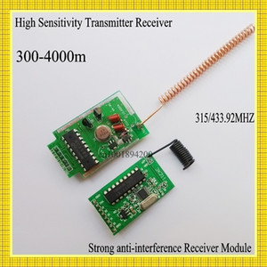 4000m Long Range Transmitter Module + Stronger Anti- Interference Ability Superheterodyne Receiver Module 315 433MHZ High Power T200605