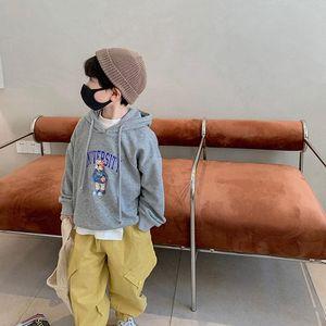Hoodies & Sweatshirts Children's Fleece Hoodie 2021 Autumn Cute Cartoon Top Loose Pullover Fashion Outerwear 3-170