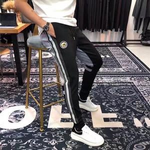 Mens Pants Slim Stripe Embroidery Leisure Running Men s Pant Casual Long Pants Men Fashion Pencil Pant Elastic