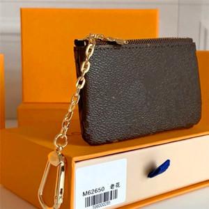 Anahtar Kılıfı M62650 Pochette Cles Tasarımcı Moda Bayan Erkek Anahtarlık Kredi Kartı Tutucu Sikke Çanta Lüks Mini Cüzdan Çanta Charm Brown Tuval