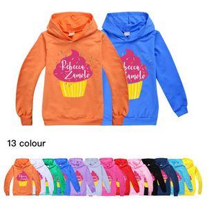 Boys Shirt Cupcake Zamfam Merch Rebecca Zamolo Kids Hoodie Hot Sale New Stylish Hooded Full Fall Boutique Outfits Baby Girl J0220