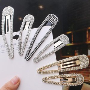 Fashion Crystal Hair Clip Silver Gold Barrettes Clips Bobby Pin for Women Fashion Jewelry will and sandy gift