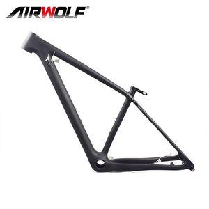 Bike Frames Airwolf Carbon MTB Frame 29er 148*12mm Frameset Avaliable Size S M  L 160mm Brake
