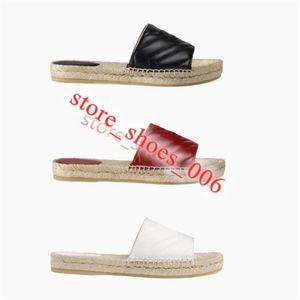 Gucci slipper Luxusdesign Espadrilles Frauen Sommer Frühlingsplattform mit Hardware Loafer Girls Echtes Leder kranke Sohle Hausschuhe EUR35-40 mit Box