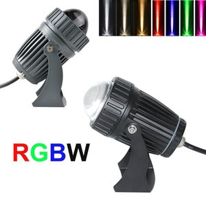 NOUVEAU LED extérieur LED Spotlight Lampe murale étanche Lampe à rayons étroits RGBW LED phare 10W 110-240V Lampe de laveuse de mur longue distance