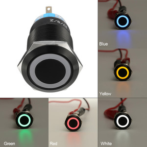 2021 New 12-v 19mm Self-lock Switch Led Loop Head Flat 5pin Waterproof Sy95