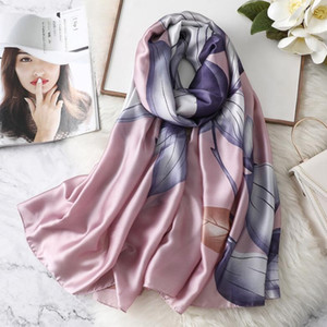 Autumn winter new new silk satin imitation silk scarf female scarf shawl seaside vacation sun block beach towel wholesale