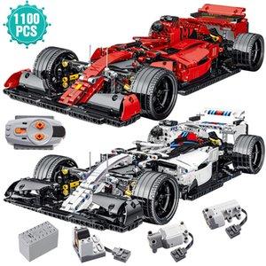 Formula Car Sport Building Blocks Brinquedos Super Speed Racing Vehicle Model Bricks RC Toys Birthday Gift For Kids