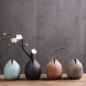 Vazolar 1 adet Yaratıcı Seramik Vazo Sanatsal Masaüstü Çiçek Düzenleme Tutucu Ev Dekorasyon Ev için (Siyah)