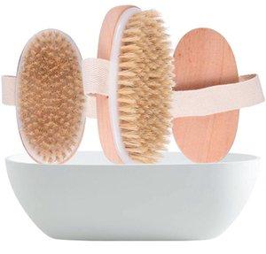 Деревянная овальная ванна кисти сухой кожуру тела натуральное здоровье мягкая щетина массаж ванна душевая щетина щетка для кузова кузов без ручки LLS431