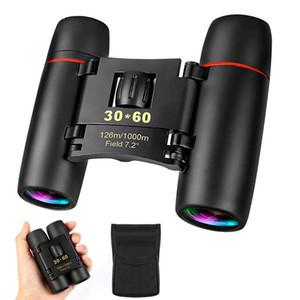 30x60 день и ночь кемпинга путешествия видения спектакля область 126м / 1000 м оптические военные складные бинокль телескоп