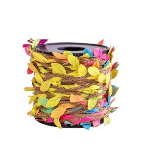 10 лет / рулон шпагат для ремесел домашний декор DIY обертывание натуральный искусственный завод вечеринка свадьба бирлап листьев ленты фестиваль подарок