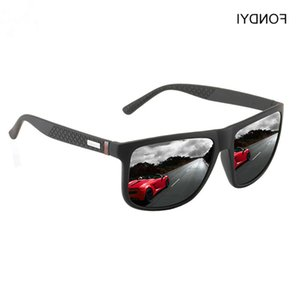 U4000 Square Sunglasses 2020 Polarized FONDYI Shades Sun Men Glasses Travelling Stylish Gafas de sol Women Mirror with Case