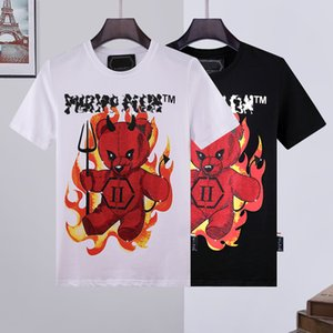 21SS clothing factory luxury T-Shirt men t shirt skull tshirt PP phillip plain Tshirts Round neck embroidery designs Couples Tee Male Top palm supre angles