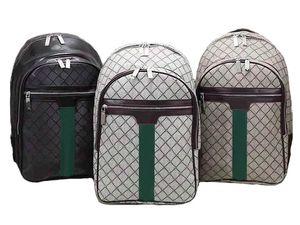 2021 High-capacity Luxury Backpack Style Backpack School Shoulder Bag Strap Genuine Leather Embossing Fashion Letter Pattern Design knapsack Travelling bags