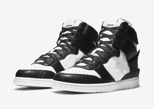2021 Otantik Dunk Yüksek Objush Siyah Beyaz Ladin Aura Adam Kadın Açık Ayakkabı Spor Sneakers Orijinal Kutusu ile