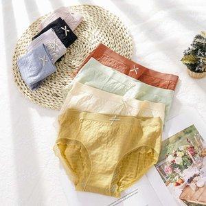 Embalagem independente bolha calças de oxigênio underwear grafeno respirável sexy lace lateral cintura briefs mulheres