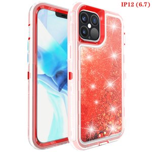 quicksand defender robot hard crystal jelly iphone case for phone 12 pro max xs xr x 8 plus Samsung note 10 S20 antiknock protective shockproof clear cover