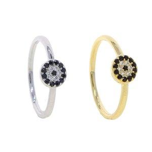 Обручальные кольца милые прекрасные турецкие злые глазные женские ювелирные изделия геометрические круглые диско в форме маленькая мода