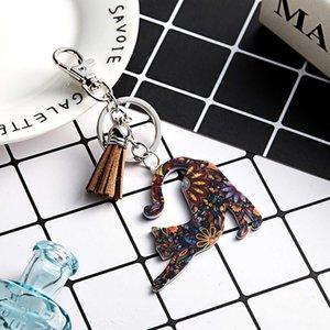 Fashion Cat Keychain Butterfly Bag Buckle Hot Transfer Animal Keychain2sb8