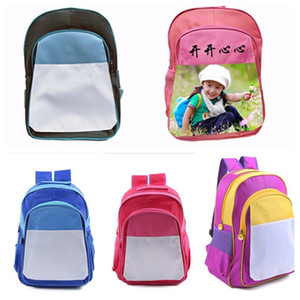 2021 DIY Thermal Transfer Backpack Kids Sublimation Blank Shoulders Bags Colorful Christmas Students Junior's School Bag Totes Gifts
