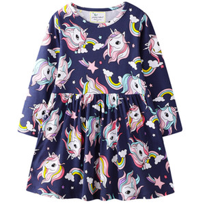 2021 New Girls' Unicorn Cotton Fabric Spring autumn Mq78
