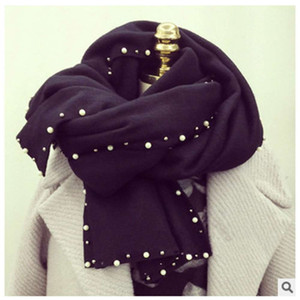 Shawl thickening Autumn and women's Scarf winter Korean pearl warm tide
