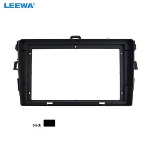 LEEWA Car Audio 2DIN Fascia Frame Adapter For Toyota Corolla 9