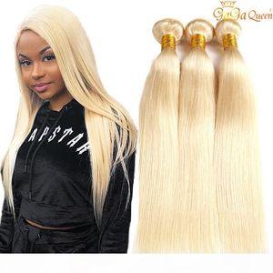 613 Blonde Peruvian Straight Hair Weave 3 Bundles Peruvian Virgin Hair Straight 613 Human Hair Extensions Gagaqueen